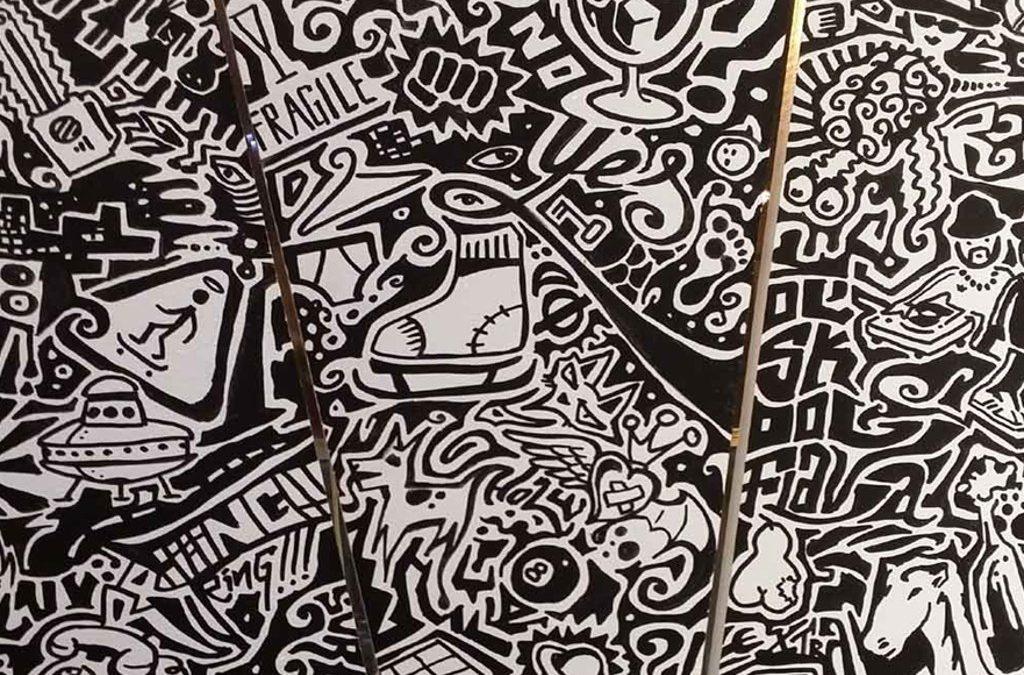 Excelente tendencia de Murales de Graffiti pintados a mano