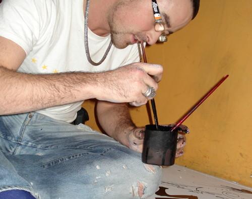 murales de graffiti a mano